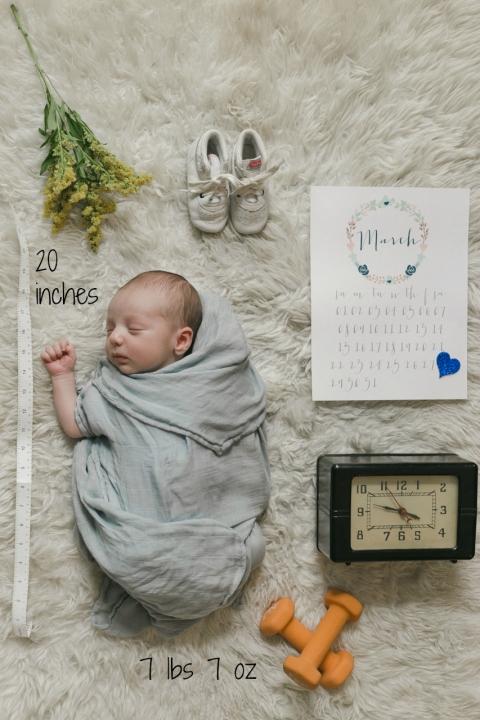 Everett - Newborn Photo